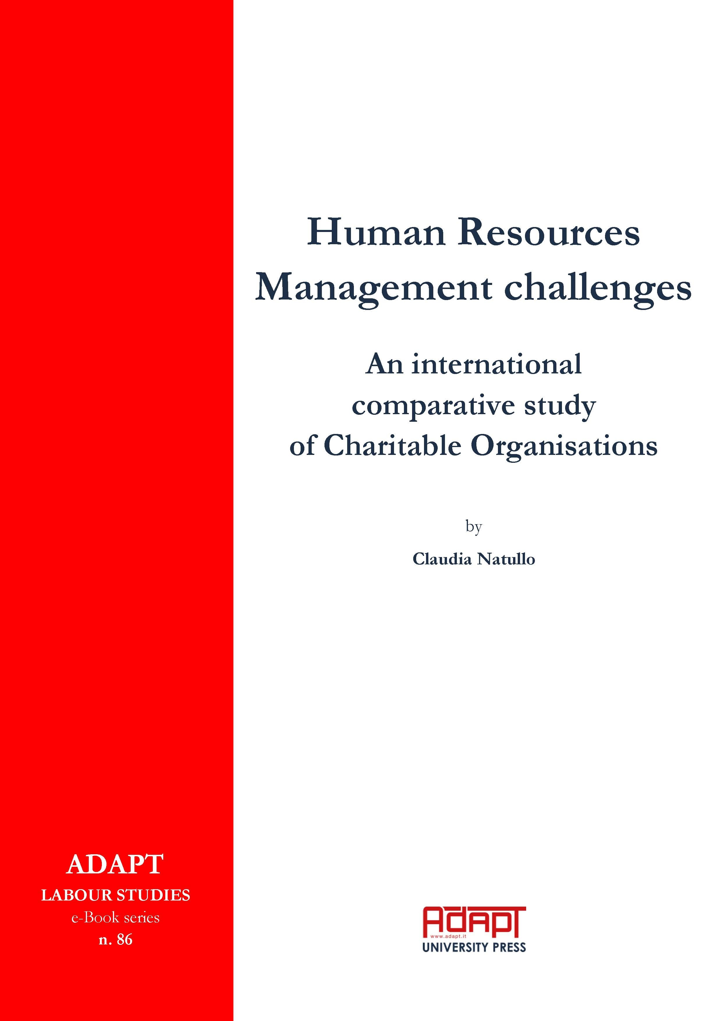 E-book. Natullo Claudia, Human Resources Management challenges : an international comparative study of charitable organisations